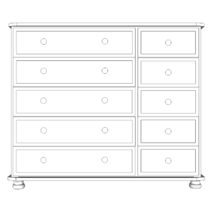 Wiltshire Pine 10 Drawer Multi Chest