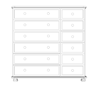 Wiltshire Pine 12 Drawer Multi Chest