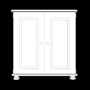Wiltshire Pine 2 Door Small Cupboard with 1 adjustable Shelf