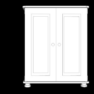 Wiltshire Pine 2 Door Large Cupboard with 2 adjustable shelves
