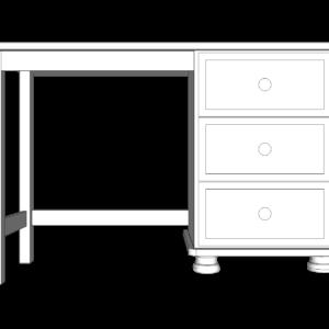 Wiltshire Pine Single Pedestal Dressing Table