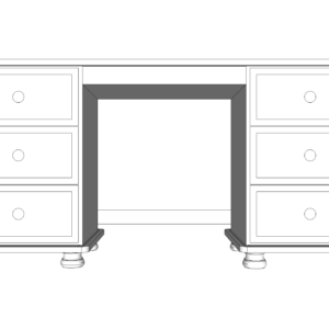 Wiltshire Pine Double Ped Dressing Table
