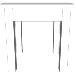Wiltshire Pine Stool With Beige Pad