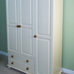 Wiltshire Pine 3 Door 2 Drawer Gents Triple Robe