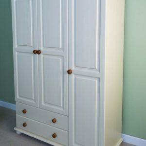 Wiltshire Pine 3 Door 2 Drawer Gents Triple Robe