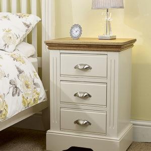Kensington 3 drawer bedside